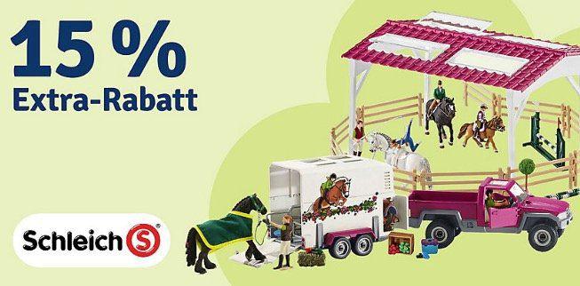 Schleich Spielzeug mit 15% Rabatt bei myToys   z.B. Schleich Bauernhaus + Set Geburstagspicknick 58,19€ (statt 65€)