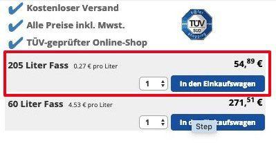 Fehler? 205 Liter High Performer 5W 30 VW Longlife 3 Motoröl für 54,89€(statt 789€)