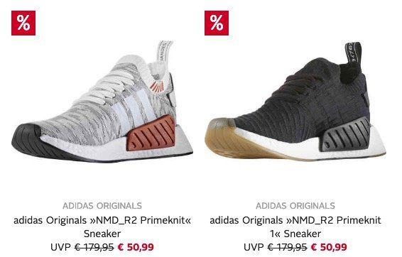 adidas NMD R2 Primeknit Sneaker für 56,94€ (statt 77€)   Neukunden nur 35,99€