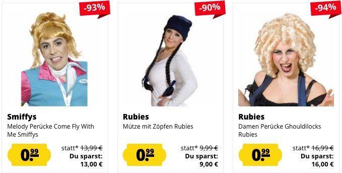Perücken und Mützen für je 0,99€ + 3,95€ VSK