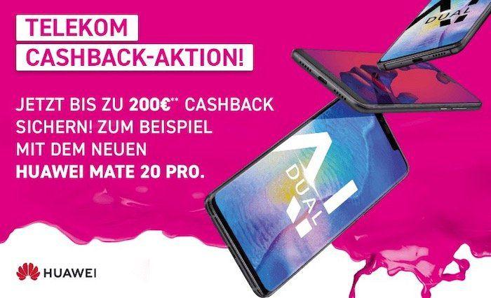 Telekom Tarife mit bis zu 8GB LTE + Huawei Smartphones mit bis zu 200€ Cashback