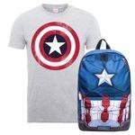 Captain America Rucksack + T-Shirt für 19,48€(statt 36€) – auch für Kinder und Damen