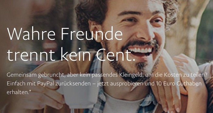 PayPal: 3x 5€ an Freunde senden und 10€ geschenkt bekommen   nur eingeladene Kunden