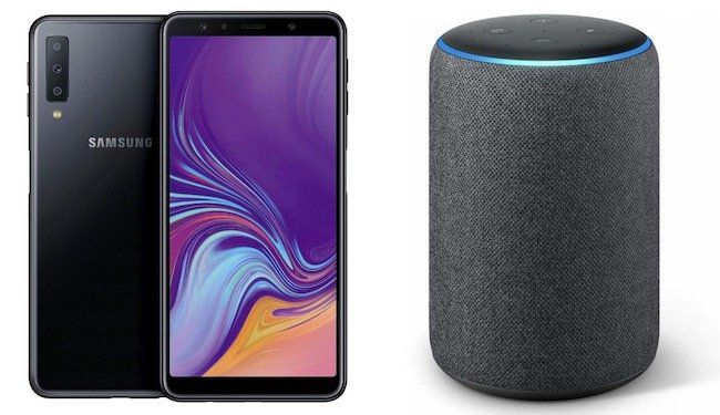 Samsung Galaxy A7 (2018) + Amazon Echo Plus für 4,95€ + Vodafone Allnet Flat von otelo mit 4GB ab 19,99€mtl.