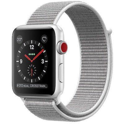 Apple Watch Series 3 GPS + Cellular 42mm mit Sport Loop Armband für 299€ (statt 388€)