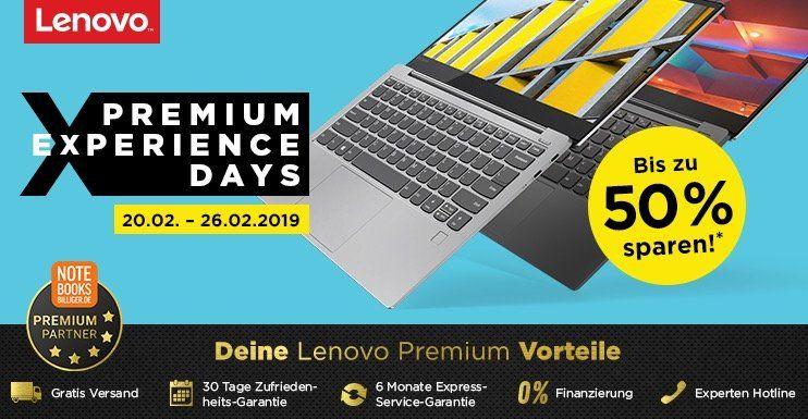 Lenovo Premium Notebooks, PCs und Tablets bis  50% reduziert