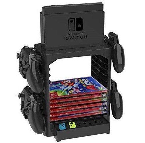 Nintendo Switch Ständer mit Controller Halterungen und für max. 10 Spiele für 19,90€(statt 37€)