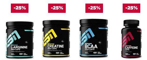 💪 20% Rabatt auf alle Proteine + 25% auf alle ESN Kapsel Produkte