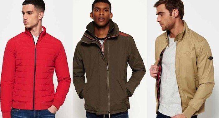 Verschiedene Superdry Jacken für Herren für 25,16€