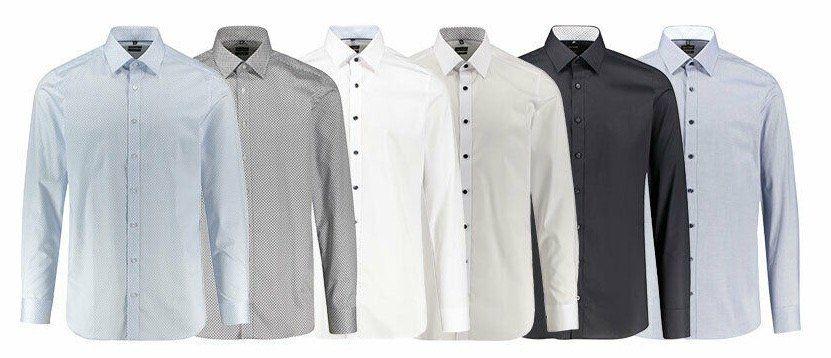 Olymp Herren Hemd Level Five Body Fit Langarm für 39,90€(statt 44€)