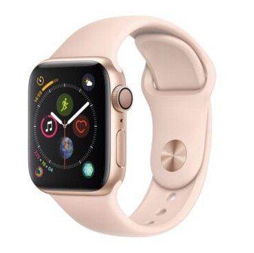 Apple Watch Series 4 GPS 40mm Gold mit Sportarmband in Sandrosa für 379,90€ (statt 404€)