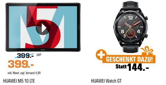 HUAWEI MediaPad M5 32GB mit LTE HUAWEI + Watch GT Smartwatch nur 399€ (statt 454€)