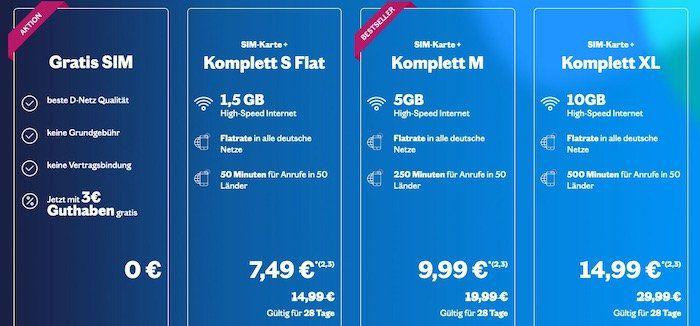 Lebara SIM mit 3€ Startguthaben im Telekomnetz komplett kostenlos