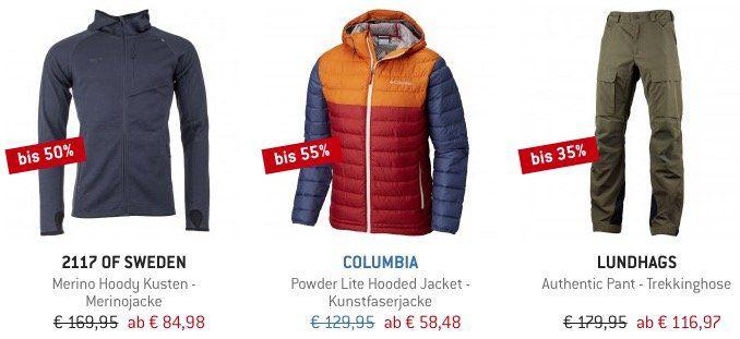Bergfreunde Winter Sale mit bis  60% + 10% Gutschein   z.B. Columbia Jacke für 52,63€ (statt 66€)