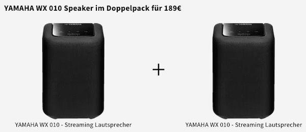 MediaMarkt Wahnsinns Schnell Verkauf   z.B. 2x Yamaha WX010 Netzwerklautsprecher für 189€ (statt 242€)