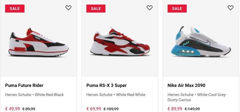 Foot Locker Sale mit sehr guten Preisen   z.B. adidas Nmd R1 Taped für 99,99€ (statt 122€)