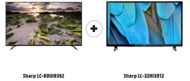 SHARP LC 60UI9362 LED TV 60 UHD TV + Sharp LC 32HI3012 für 699€ (statt 885€)