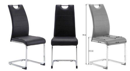 Carryhome Schwingstuhl im Lederlook in Schwarz oder Braun für 33,85€ (statt 44€)