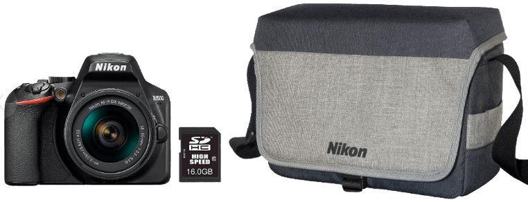Nikon D3500 digitale Spiegelreflexkamera mit Zubehör ab 299€ (statt 434€)