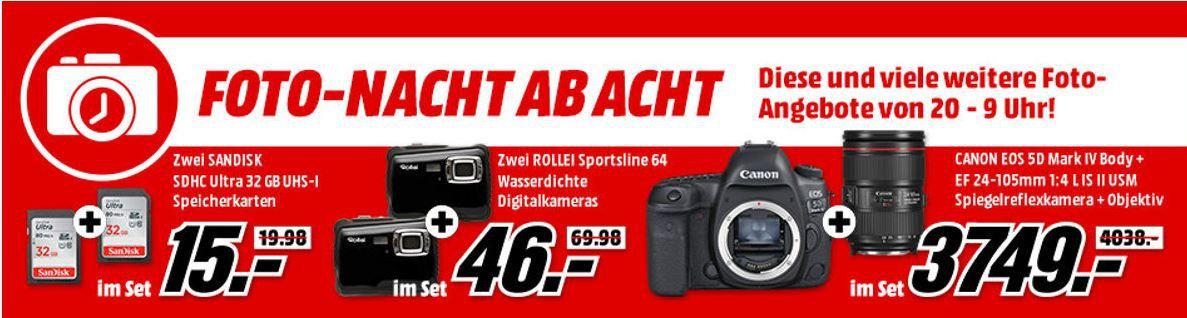 Media Markt Foto Late Night Aktion:  günstiges Foto Zubehör: z.B. ROLLEI City Traveler XL Dreibein Stativ für 99€ (statt 154€)