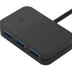 ISY IHU-1001 USB2.0-Hub in Schwarz ab 6€ (statt 12€)