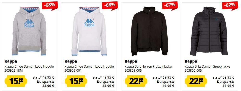SportSpar kleiner KAPPA Mega Sale bis 75% Rabatt   z.B. Kappa Bert Herren Freizeit Jacke ab 22,99€ (statt 40€)