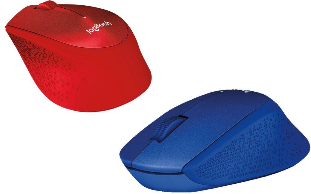 Logitech M330 Silent   kabellose Maus Blau o. Rot für je 19€ (statt 27€)
