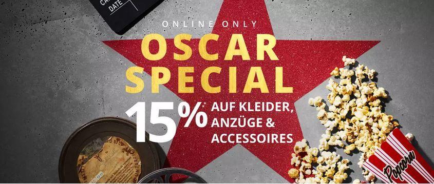🔥 Peek & Cloppenburg* Oscar Special Sale mit 15% Extra Rabatt auf Anzüge, Kleider & Co.