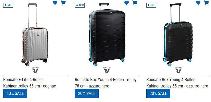 Koffer Direkt mit 20% Rabatt auf alles nicht reduziertes + weitere 5% bei Vorkasse