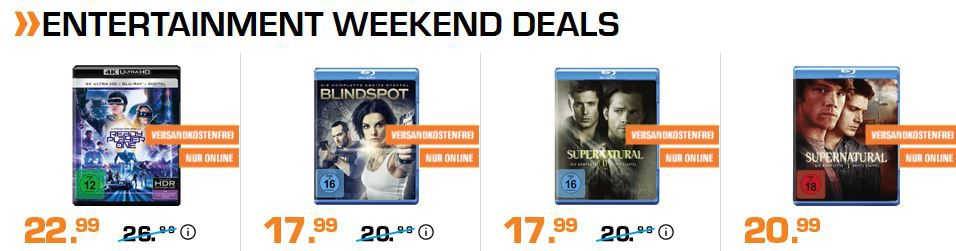 Saturn Entertainment Weekend Deals: z.B. PlayStation FC Herren Shirts für 7,99€ (statt 20€)