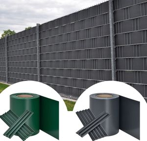 PVC Sichtschutzstreifen Grau oder Grün 35m für je 15,95€