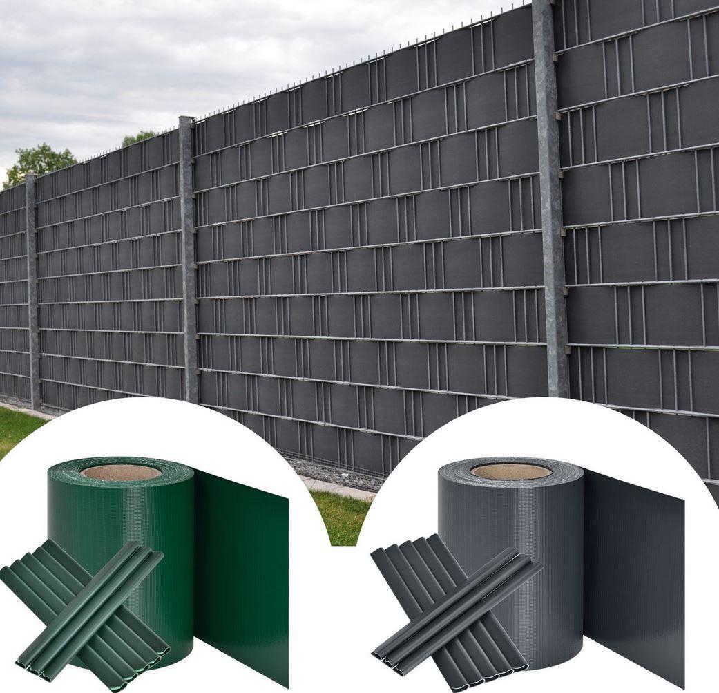 Pvc Sichtschutzstreifen Grau Oder Grun 35m Fur Je 15 95