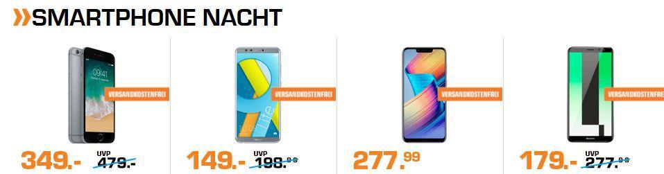 Saturn Late Night Smartphone & Speicher Shopping: z.B. Sony Xperia XA2 Plus 6″ Smartphone 249€ (statt 318€)