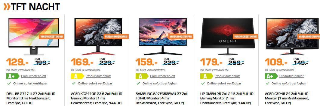 Saturn Late Night TFT Shopping: günstige Monitore z.B. LENOVO L22e 20   21.5 Zoll FullHD Monitor für 89,99€