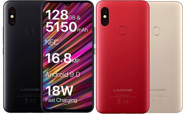 UMIDIGI UMI F1   6,3 Zoll Smartphone mit 128GB, 5150mAh Akku & Android 9 für 199,99€   aus EU