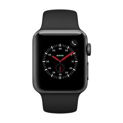 Apple Watch Series 3 38mm Alu (GPS + LTE) mit schwarzem Armband für 287,04€ (statt 323€)
