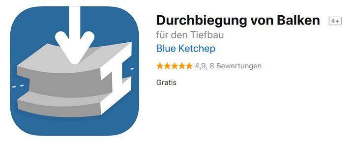 iOS App: Durchbiegung von Balken kostenlos (statt 9€)
