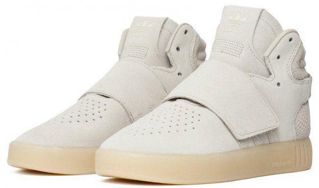 adidas Originals Tubular Invader Strap Sneaker in Beige für