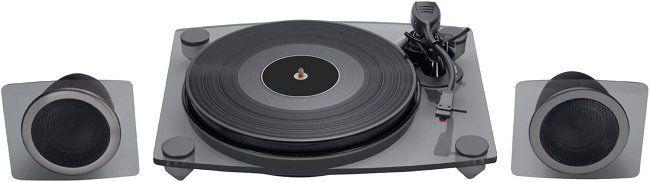 BIGBEN TD115 Plattenspieler mit 33, 45, 78 U/min in Schwarz für 85€ (statt 145€)
