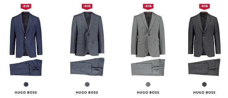 Hugo Boss Anzüge aus feiner Schurwolle in Restgrößen für 186,15€ inkl. Versand