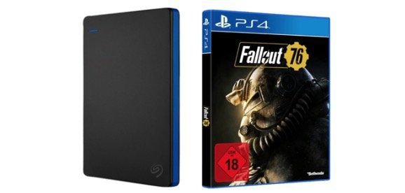 Seagate Game Drive PS4 + Fallout 76 in 1TB für 55€, in 2TB für 79€ oder in 4TB für 119€
