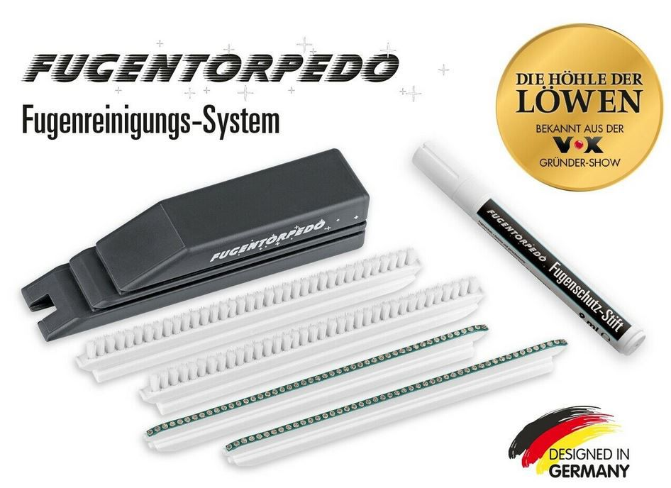 FUGENTORPEDO XL Set (Handstück, 2x Fugenbürste, 2x Schleifsteg 3mm + Fugenstift für 19,99€ (statt 25€)