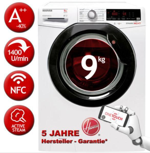 HOOVER DXOA Q49AHB7 84 9kg Inverter Waschmaschine A+++ für 349,90€ (statt 465€)