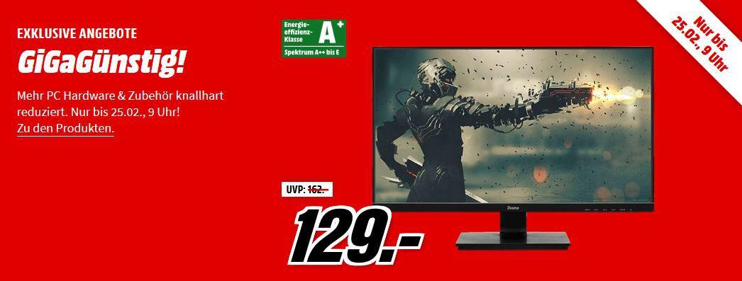 Media Markt GiGaGünstig Sale: PC Hardware & Zubehör reduziert z.B. HYRICAN STRIKER Gaming PC für 649€ (statt 774€)