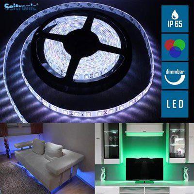 5m Seitronic LED Streifen mit 300 LEDs (SMD3528) & verschiedene Modi inkl. Fernbedienung für 14,90€ (statt 35€)