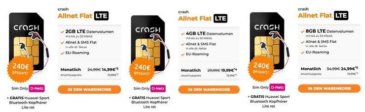 Allnet Flat im Telekom Netz mit LTE und Huawai Bluetooth Kopfhörer schon ab 14,99€ mntl.