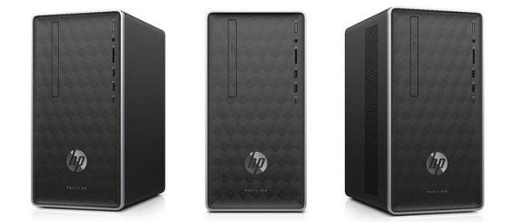HP Pavilion 590 p0503ng Desktop PC mit AMD Quad Core, 8GB, 256GB SSD und Win10 für 399€ (statt 506€)
