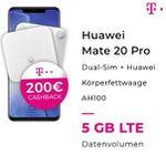 Handyflash: Huawei Mate 20 Pro mit Telekom Vertrag und LTE + 200,- € Cashback + Hauwei Körperfettwaage
