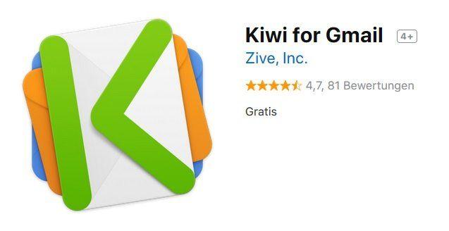 MacOS App: Kiwi for Gmail kostenlos (statt 11€)