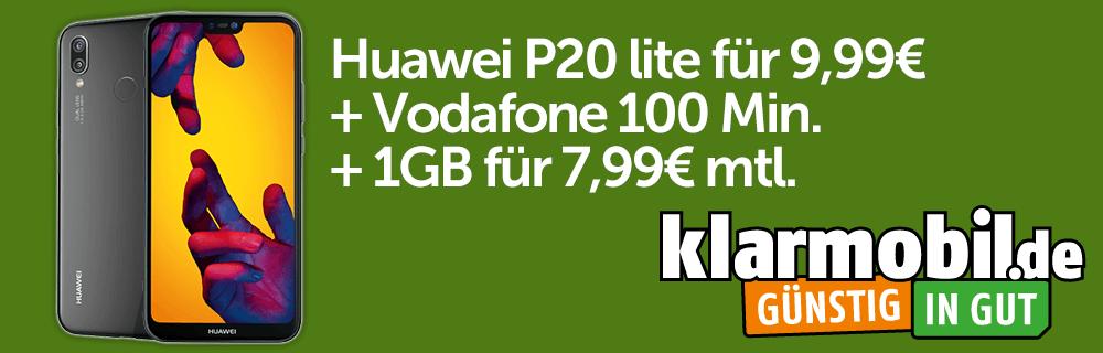Huawei P20 lite für 9,99€ + Vodafone 100 Min